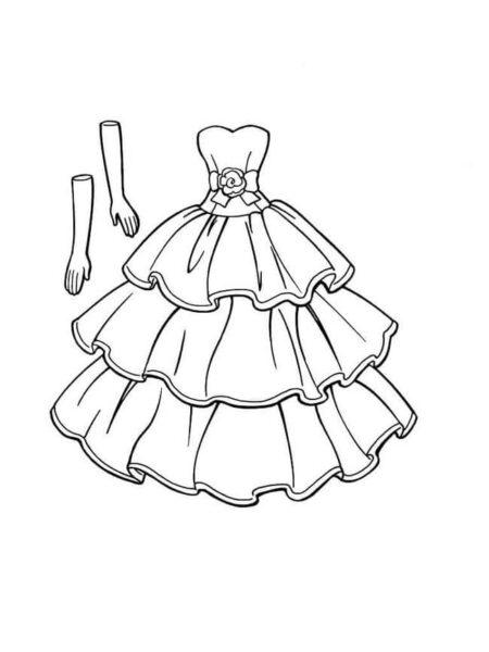 Tranh tô màu váy công chúa đẹp nhất dành tặng bé gái (2)