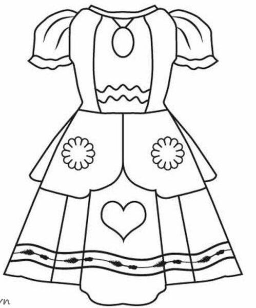Tranh tô màu váy công chúa đẹp nhất dành tặng bé gái (21)