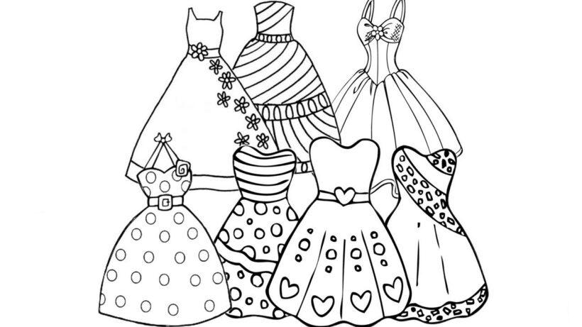 Tranh tô màu váy công chúa đẹp nhất dành tặng bé gái (22)