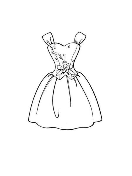 Tranh tô màu váy công chúa đẹp nhất dành tặng bé gái (25)