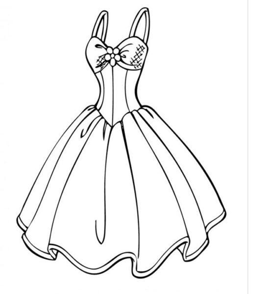 Tranh tô màu váy công chúa đẹp nhất dành tặng bé gái (27)