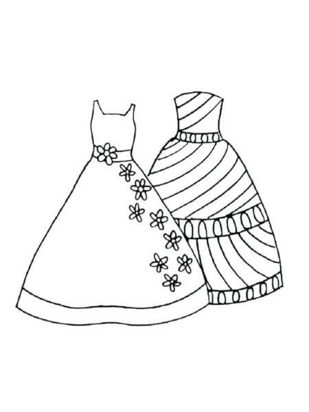 Tranh tô màu váy công chúa đẹp nhất dành tặng bé gái (28)
