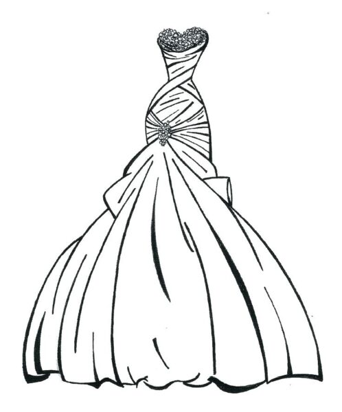 Tranh tô màu váy công chúa đẹp nhất dành tặng bé gái (29)