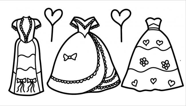 Tranh tô màu váy công chúa đẹp nhất dành tặng bé gái (3)
