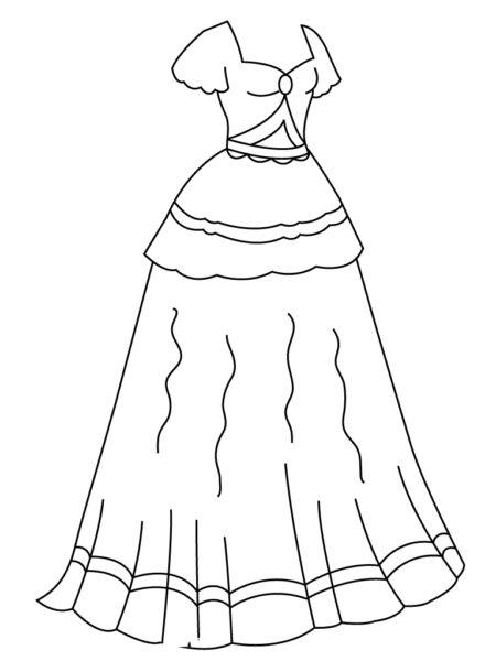 Tranh tô màu váy công chúa đẹp nhất dành tặng bé gái (30)