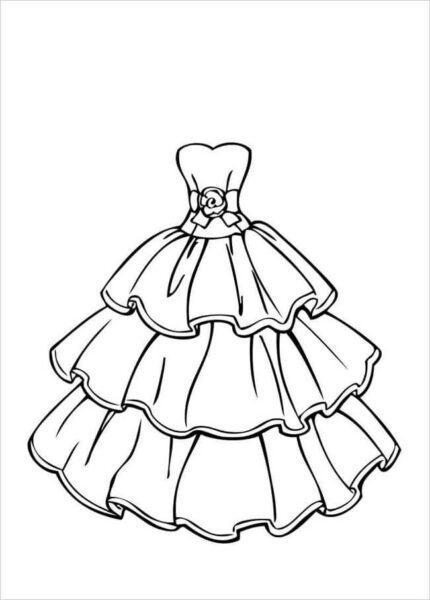 Tranh tô màu váy công chúa đẹp nhất dành tặng bé gái (35)