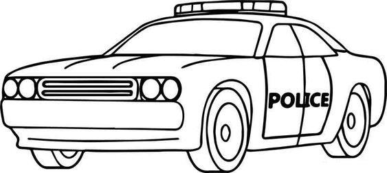 Tranh tô màu xe cảnh sát cho bé tập tô (37)