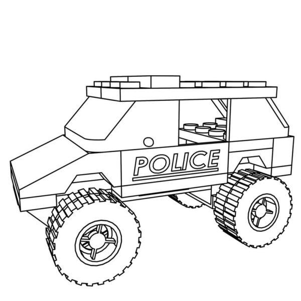 Tranh tô màu xe cảnh sát cho bé tập tô (38)