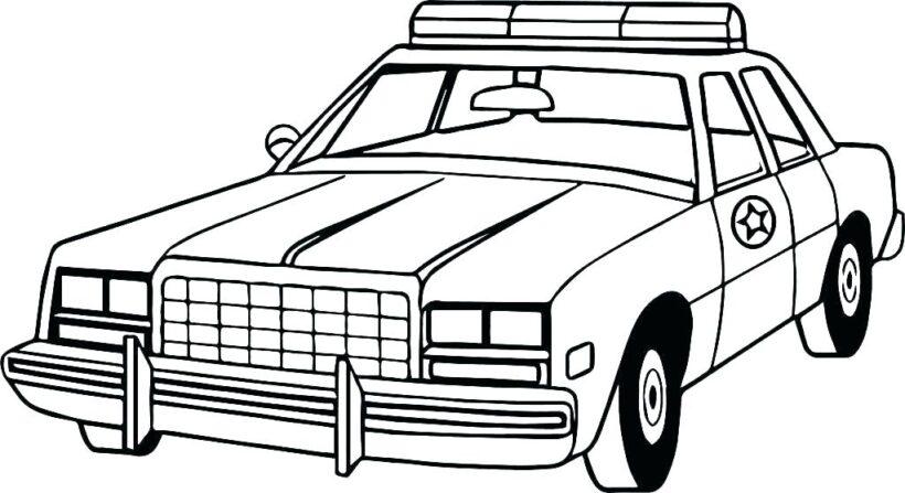 Tranh tô màu xe cảnh sát cho bé tập tô (39)