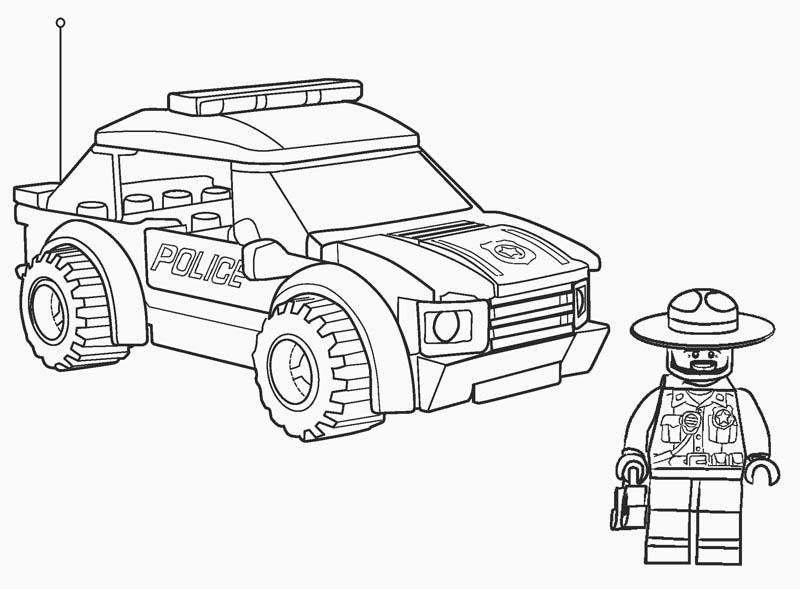Tranh tô màu xe cảnh sát cho bé tập tô (41)
