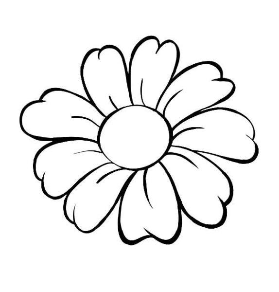 Tranh vẽ chưa tô màu bông hoa đẹp cho bé tập tô (2)