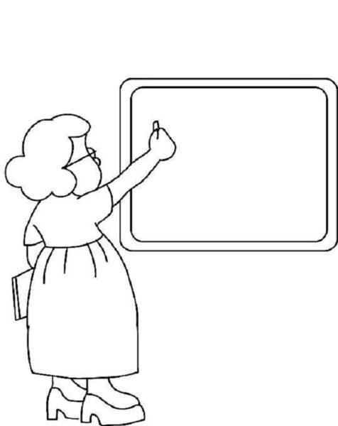 Tranh vẽ chưa tô màu chủ đề nghề nghiệp cho bé tập tô (2)