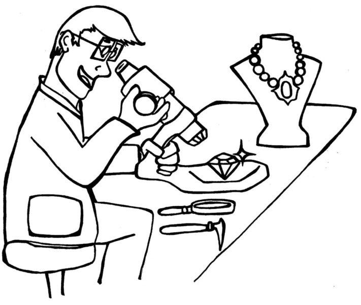 Tranh vẽ chưa tô màu chủ đề nghề nghiệp cho bé tập tô (4)