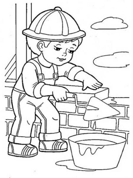 Tranh vẽ chưa tô màu chủ đề nghề nghiệp cho bé tập tô (8)