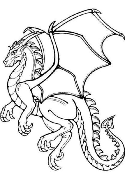 Tranh vẽ chưa tô màu con rồng cho bé tập tô (5)