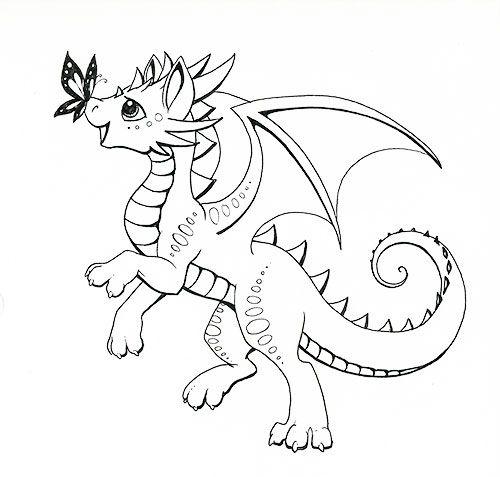 Tranh vẽ chưa tô màu con rồng cho bé tập tô (7)