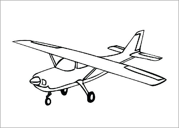 Tranh vẽ chưa tô màu máy bay cho bé tập tô (4)