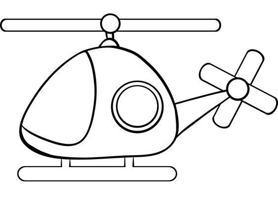 Tranh vẽ chưa tô màu máy bay cho bé tập tô (5)