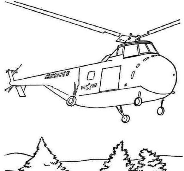 Tranh vẽ chưa tô màu máy bay cho bé tập tô (6)