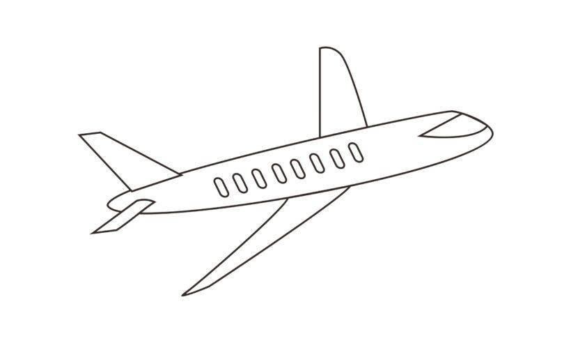 Tranh vẽ chưa tô màu máy bay cho bé tập tô (7)