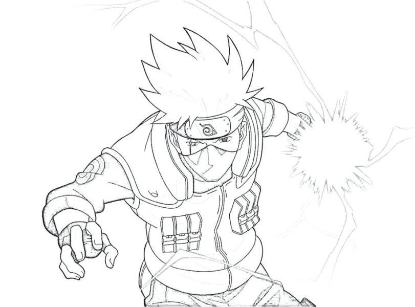 Tranh vẽ chưa tô màu Naruto cực chất cho bé tập tô (10)