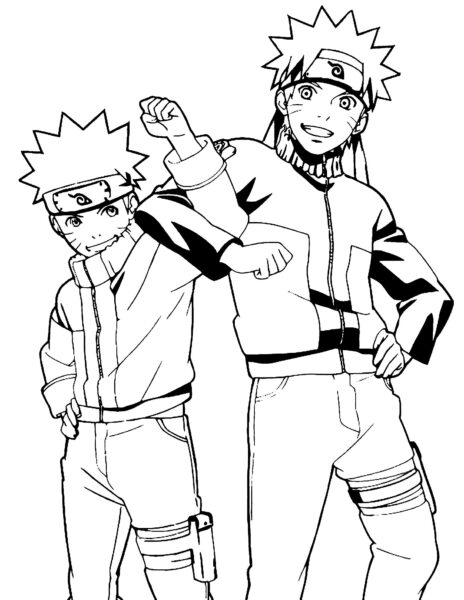 Tranh vẽ chưa tô màu Naruto cực chất cho bé tập tô (12)