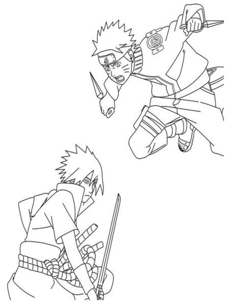 Tranh vẽ chưa tô màu Naruto cực chất cho bé tập tô (13)