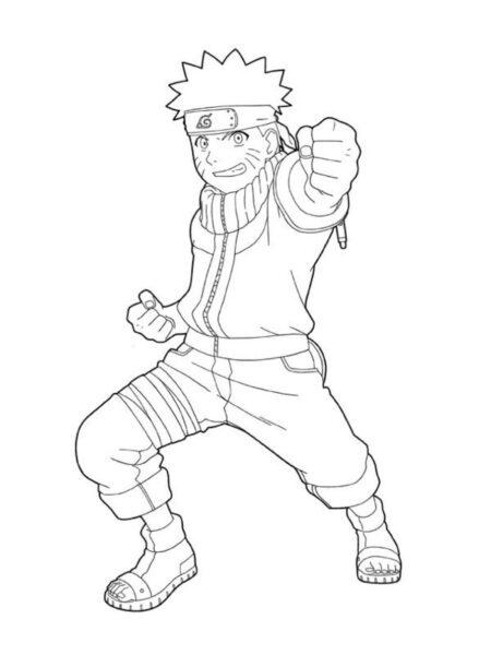 Tranh vẽ chưa tô màu Naruto cực chất cho bé tập tô (4)