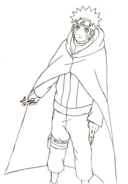 Tranh vẽ chưa tô màu Naruto cực chất cho bé tập tô (6)