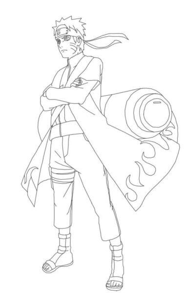 Tranh vẽ chưa tô màu Naruto cực chất cho bé tập tô (7)