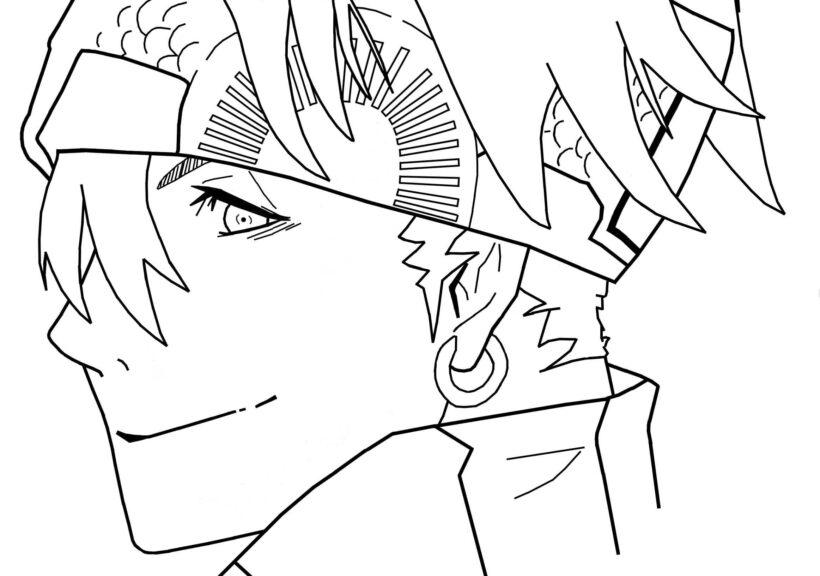 Tranh vẽ chưa tô màu Naruto cực chất cho bé tập tô (8)
