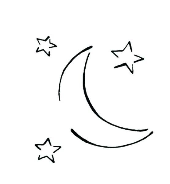 Tranh vẽ chưa tô màu ngôi sao cho bé tập tô (2)