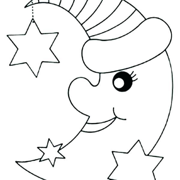 Tranh vẽ chưa tô màu ngôi sao cho bé tập tô (3)
