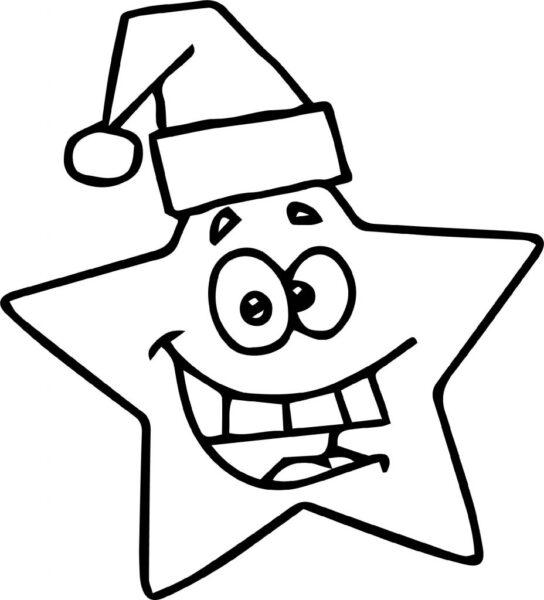 Tranh vẽ chưa tô màu ngôi sao cho bé tập tô (5)