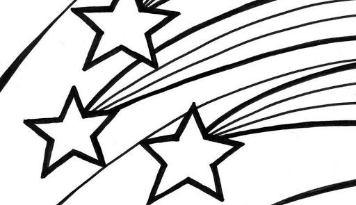 Tranh vẽ chưa tô màu ngôi sao cho bé tập tô (6)