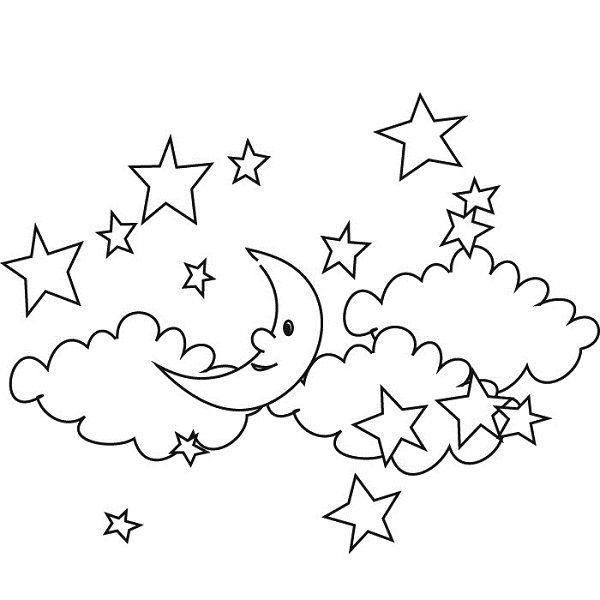Tranh vẽ chưa tô màu ngôi sao cho bé tập tô (7)