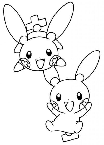 Tranh vẽ chưa tô màu Pokemon cho bé tập tô (1)