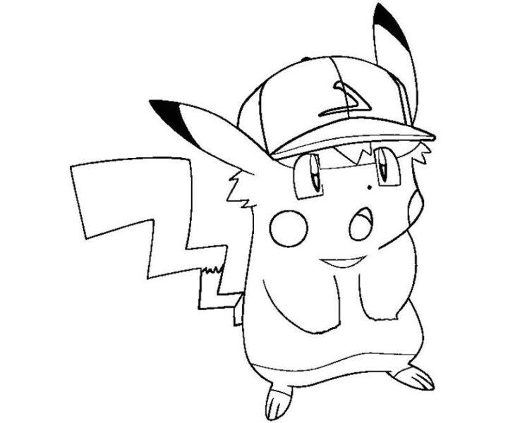 Tranh vẽ chưa tô màu Pokemon cho bé tập tô (2)