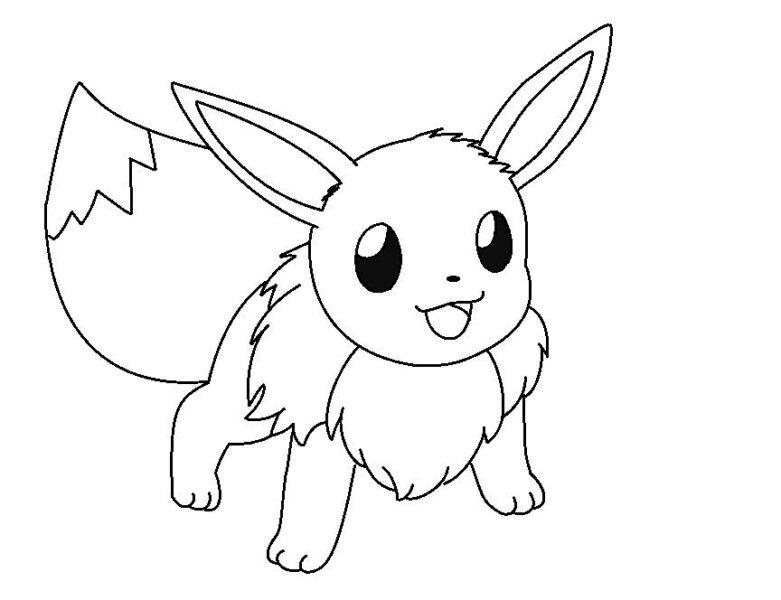 Tranh vẽ chưa tô màu Pokemon cho bé tập tô (3)
