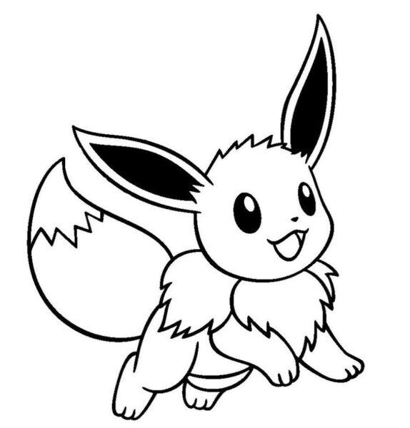 Tranh vẽ chưa tô màu Pokemon cho bé tập tô (4)
