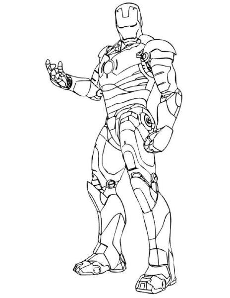Tranh vẽ chưa tô màu robot cho bé tập tô (2)