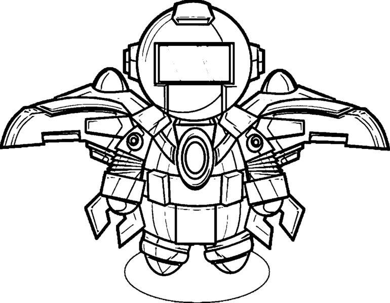Tranh vẽ chưa tô màu robot cho bé tập tô (3)