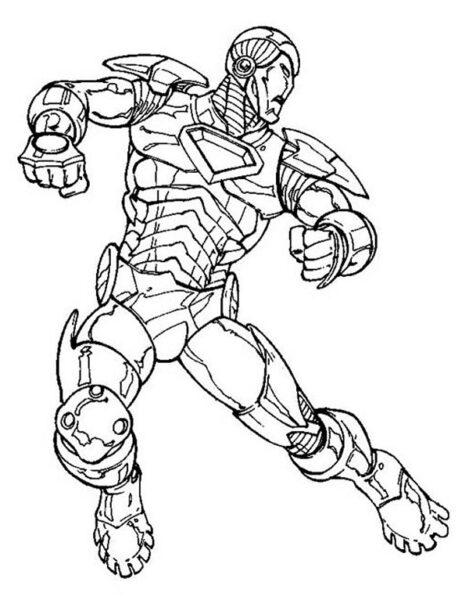 Tranh vẽ chưa tô màu robot cho bé tập tô (4)