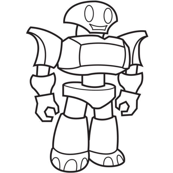 Tranh vẽ chưa tô màu robot cho bé tập tô (5)
