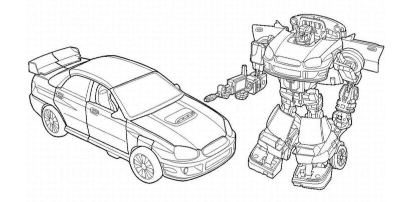Tranh vẽ chưa tô màu robot cho bé tập tô (6)