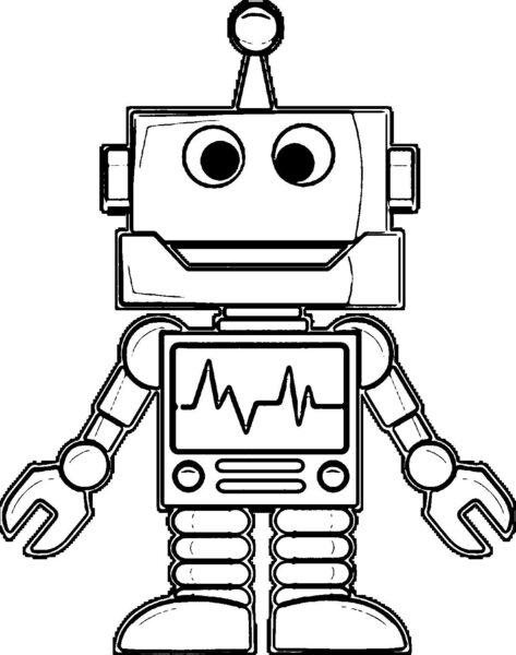 Tranh vẽ chưa tô màu robot cho bé tập tô (7)