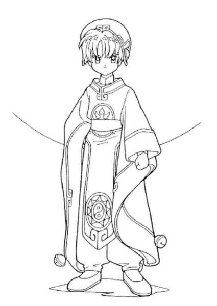 Giadinhsu.com - Tranh tô màu thủ lĩnh thẻ bài Sakura cho