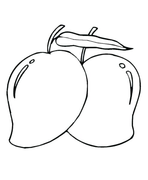 Tranh vẽ chưa tô màu trái cây đẹp cho bé tập tô (11)