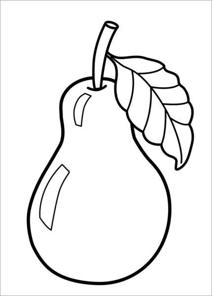 Tranh vẽ chưa tô màu trái cây đẹp cho bé tập tô (5)