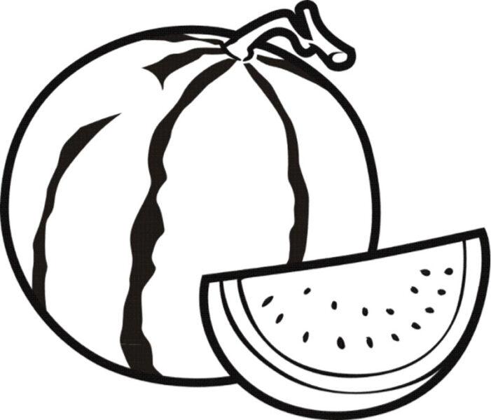 Tranh vẽ chưa tô màu trái cây đẹp cho bé tập tô (6)